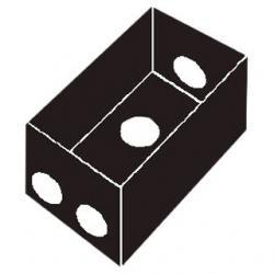 "1-Gang Rectangular Box 4 3/4"" Holes Gray"