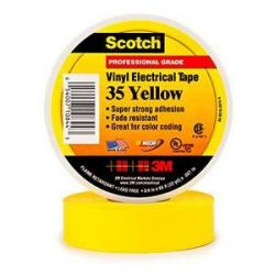 VINYL COLOR CODING TAPE  YELLOW  3/4IN X 66FT