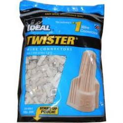 TWISTER WIRE CONNECTOR, 341, TAN, 500/BAG