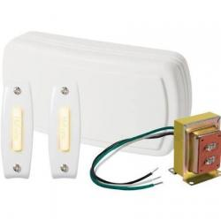 CHIME, 2 LIGHTED PUSHBUTTON, 1 STD. TRANSFORMER