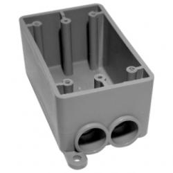 FSSU-2-101520 PVC FSSU DBL GANG BOX SCEPTER