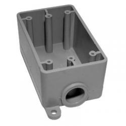 FSE05 1/2IN PVC FSE SING. GANG BOX KRALOY
