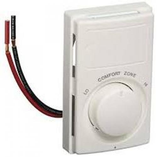 SPST SNAP ACTION LINE VOLTAGE THERMOSTAT RATED 22 AMPS AT 120-240V, 18 AMPS AT 277V